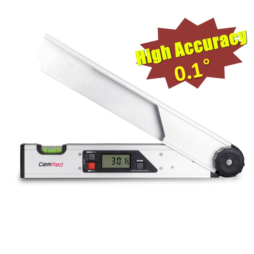 GemRed Digital Angle Finder (Crown Molding Protractor Accuracy(0.1 degree))