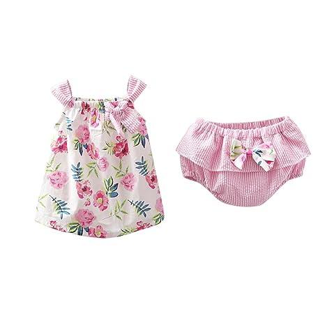 Moresave Bebita Juegos de Vestir Faldas de Flores Faldas Pantalones Cortos Conjuntos Conjuntos de Ropa de