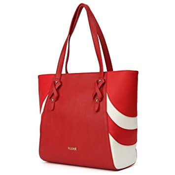 d26e839c25bc Kadell Women Leather Handbags Tote Purse Fashion Shoulder Bags for ladies  Business Red