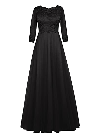 Dresstells reg; A Line Chiffon Appliques Prom Dress with Long Sleeve Wedding Dress Bridesmaid Dress