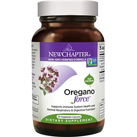 New Chapter Oregano Force for Immune Support with Supercritical Organic Oregano Non-GMO Ingredients – 30 ct Vegetarian Capsules
