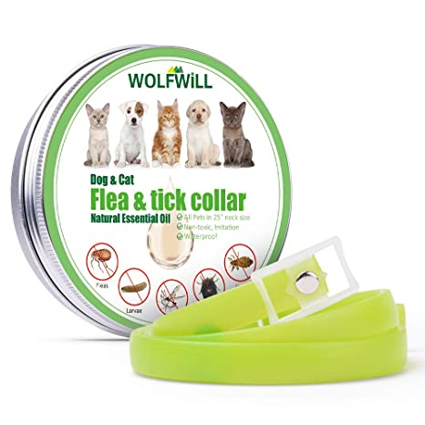 wolfwill garrapatas de mercadillos banda parásitos Collar para perros y gatos