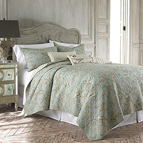 Amazon.com: Lyon Teal Full/Queen Cotton Quilt Set: Home & Kitchen : teal quilt set - Adamdwight.com
