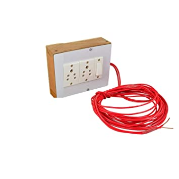 Buy Navswa Electric Extension Wooden Board Solid Durable 5 Meter Wire 2 Sockets 1 Switch Online At Low Prices In India Amazon In