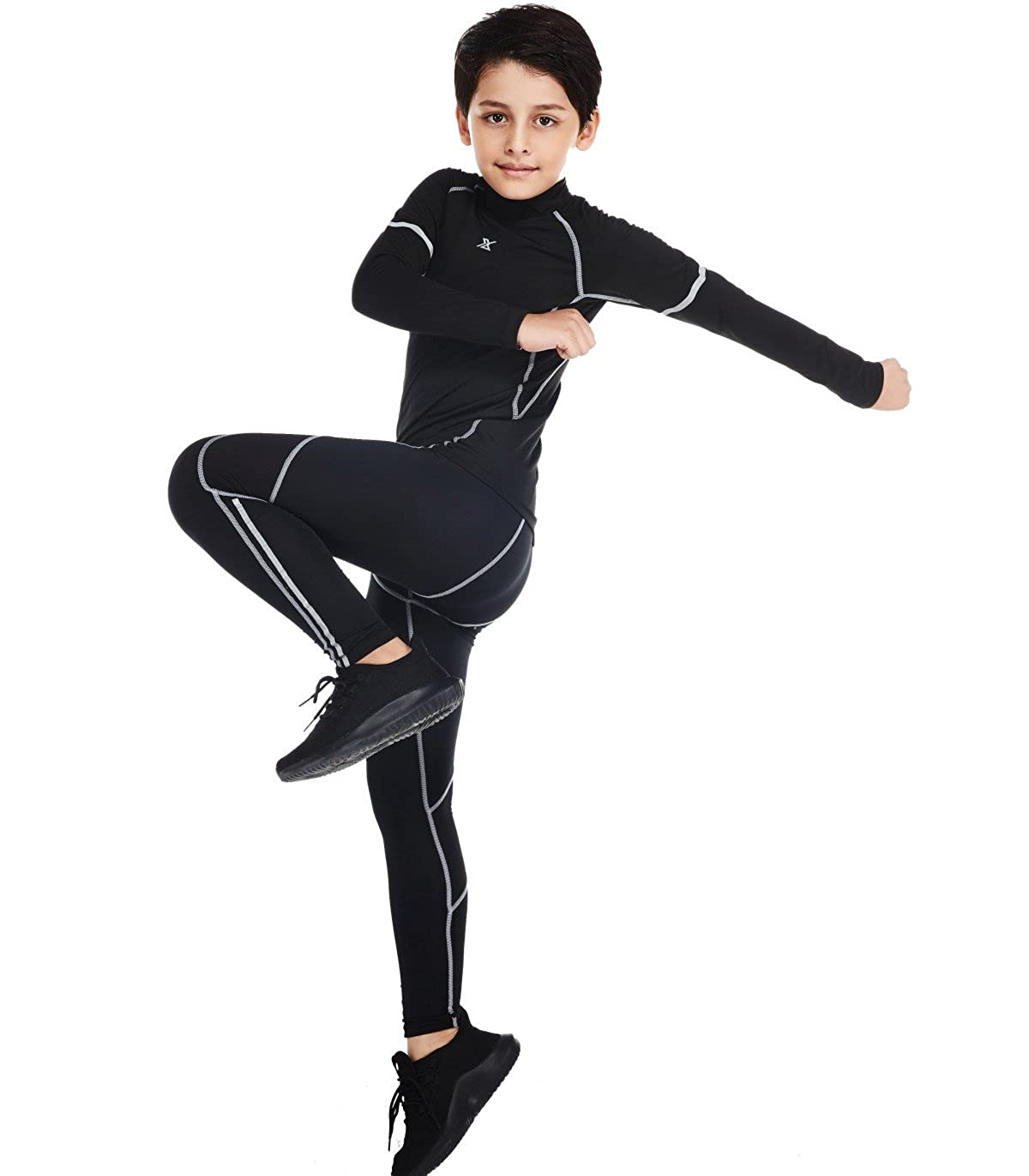 26e1dc5854 Active Clothing Red Plume Boys Long Pants Lightweight Compression ...