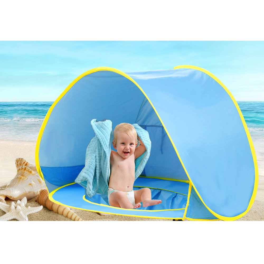 Pop Up Baby Beach Tent Portable Kiddies Shade Pool Tent 50 SPF UV Protection Sun  sc 1 st  eBay : pop up baby sun tent - memphite.com