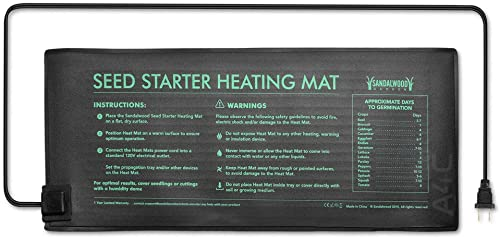 Seedling Plant Heat Mat for Indoor Outdoor Home Gardening – Waterproof Design – by Sandalwood