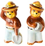 One Hundred 80 Degrees Smokey the Bear Replica Vintage-Style Salt and Pepper Shaker Set