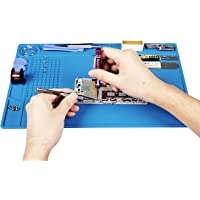 Kaisi Heat Insulation Silicone Repair Mat with Scale Ruler and Screw Position for Soldering Iron, Phone and Computer…