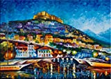 Greece Lesbos Island is a Limited Edition print from the Edition of 400. The artwork is a hand-embellished, signed and numbered Giclee on Unstretched Canvas by Leonid Afremov. In this, Leonid revisits one of his favorite places in Europe, Greece. Leo...