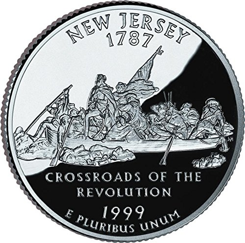 1999 D New Jersey Quarter Bankroll Uncirculated