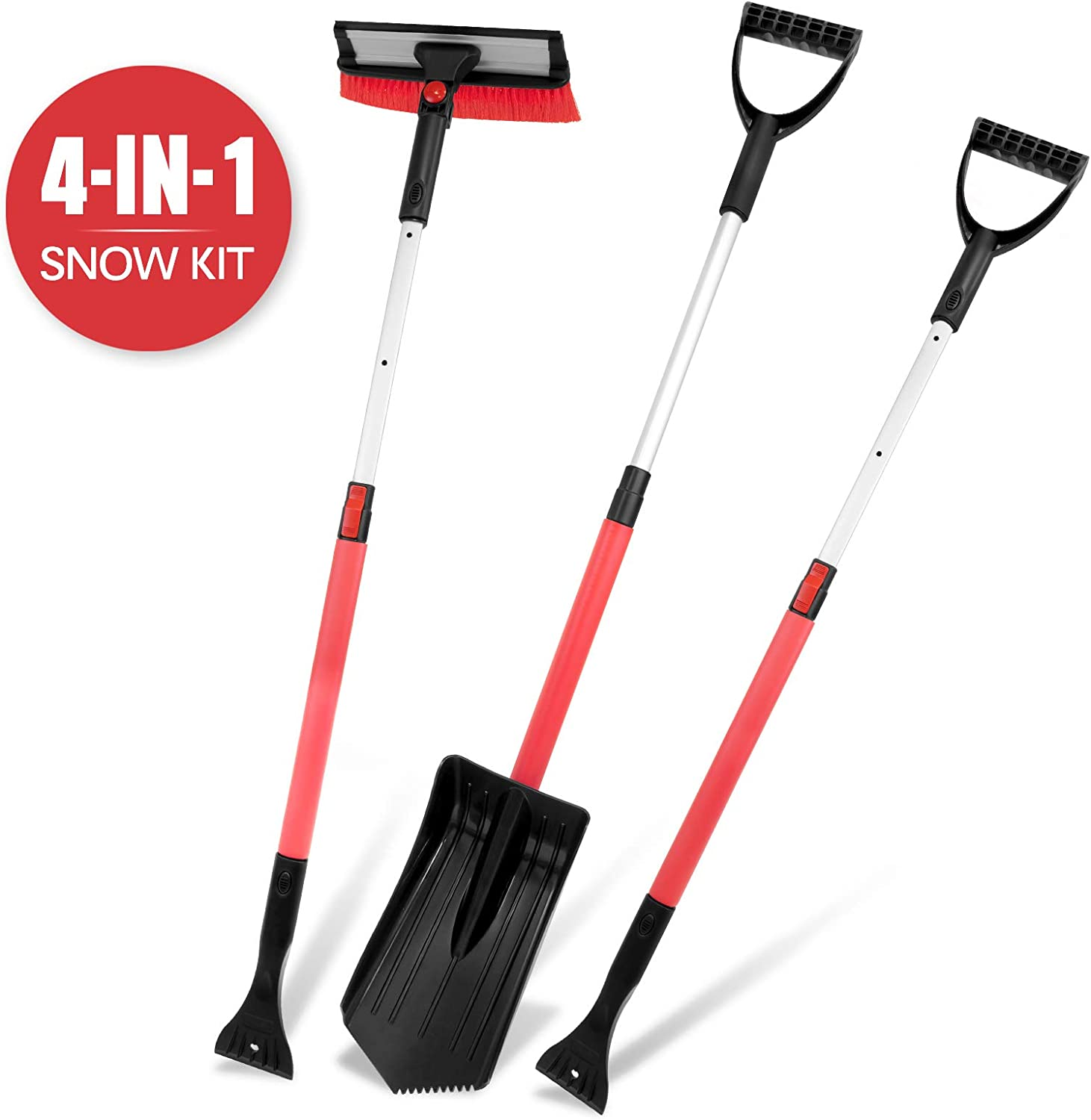 Amazon Promo Code for 4-in-1 Snow Shovel Kit with Portable Snow Shovel