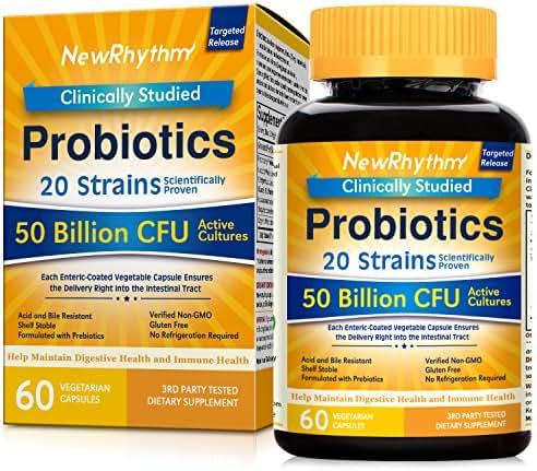 Probiotics: NewRhythm Probiotics 50 Billion CFU