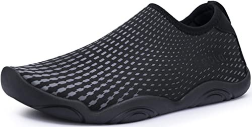 TSLA Men Women Slip-On Quick-Dry Beach Aqua Shoes