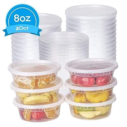 Amazoncom Tashibox 8 Oz Food Storage Deli Containers With Lids