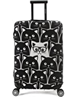 Madifennina Washable Spandex Travel Luggage Protector Baggage Suitcase Cover Fit 23-32 Inch Luggage