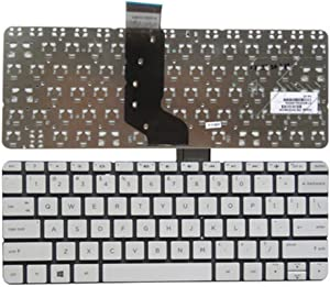 New US Replacement Keyboard for HP Stream 11-D011WM 11-D010WM 11-D020NR 11-D060SA 11-R010NR 11-R020NR 11-R092NR 11-R014WM 11-R015WM US Layout No Frame (White)