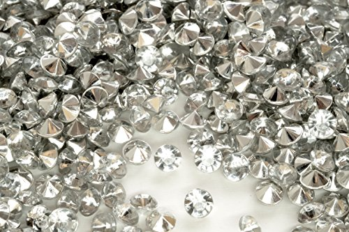 6.0mm 1 Ct 2000 Pcs Clear & Silver