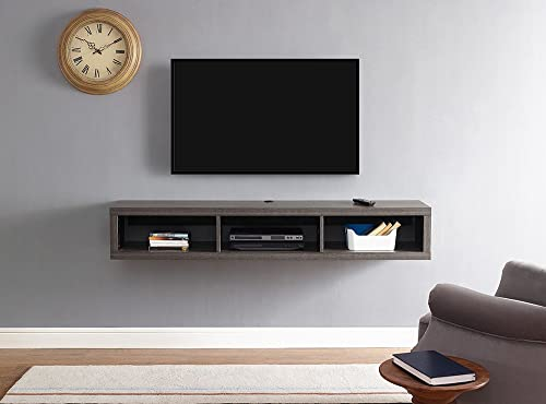 Martin Furniture Floating Tv Console, 60 , Skyline Walnut