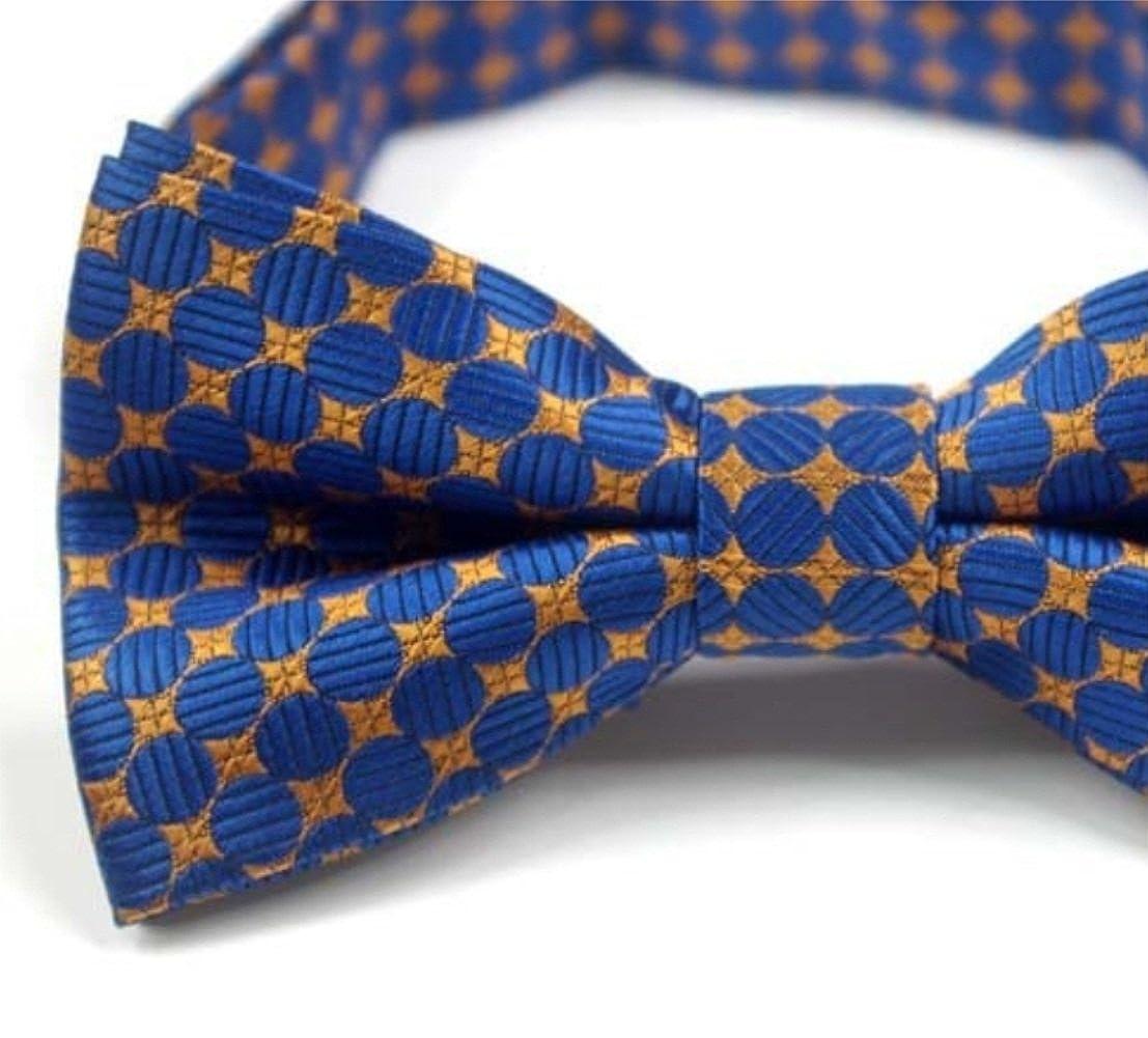 Gouerping Gentlemen Fashion Stars Pattern Rhombus Pattern Bow Tie Men Dating Party Bow Tie