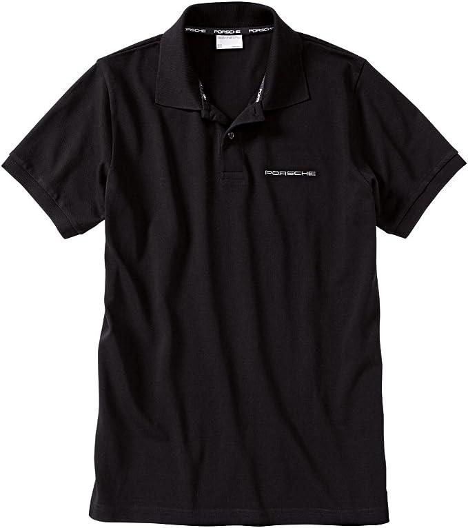 Porsche - Camisa Casual - Manga Corta - para Hombre Negro Negro ...