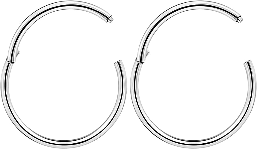 BASIC Hinged Ring Surgical Steel Piercing Jewellery Plain Hinge Ring Silver Ring