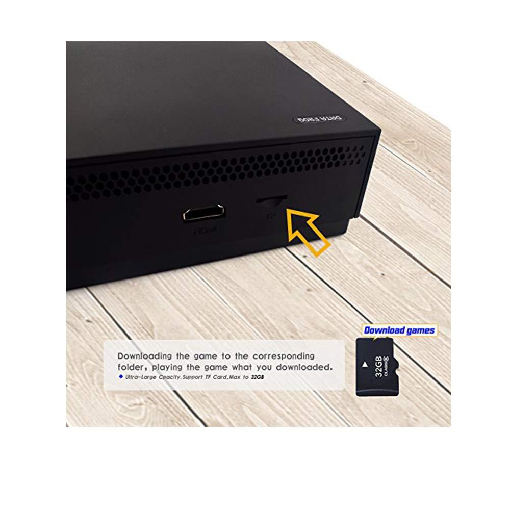 MJKJ Retro Game Console , 4K HDMI TV Output Video Game Console Built-in 843 Classic Game Console with 2PCS Joystick - Black by MJKJ (Image #3)