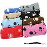 HeroNeo® Hot Sell Lovely Design Pet Dog Cat Paw Prints Fleece Couture Blanket Mat New