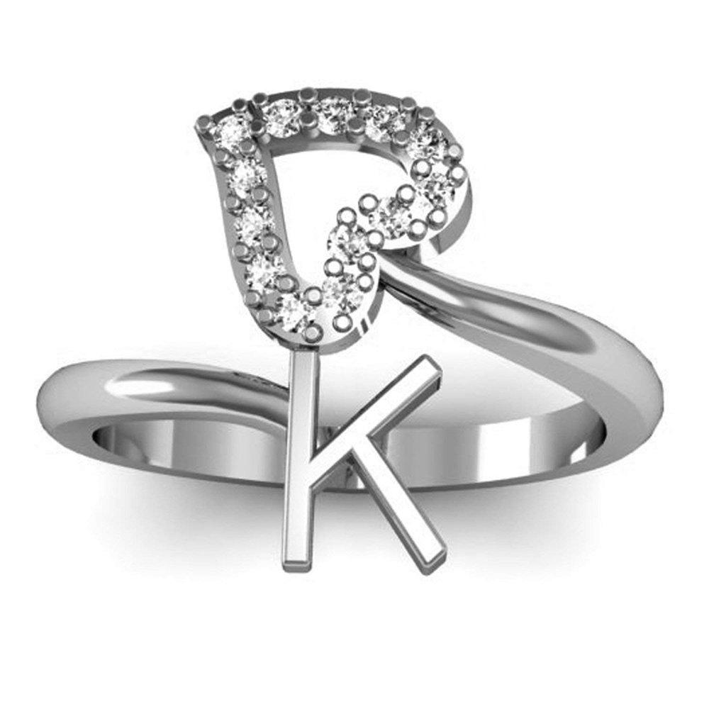 3djewels Women's 14K White Gold Fn .925 Sterling Silver Waves Adjustable Toe Ring SNSTR425