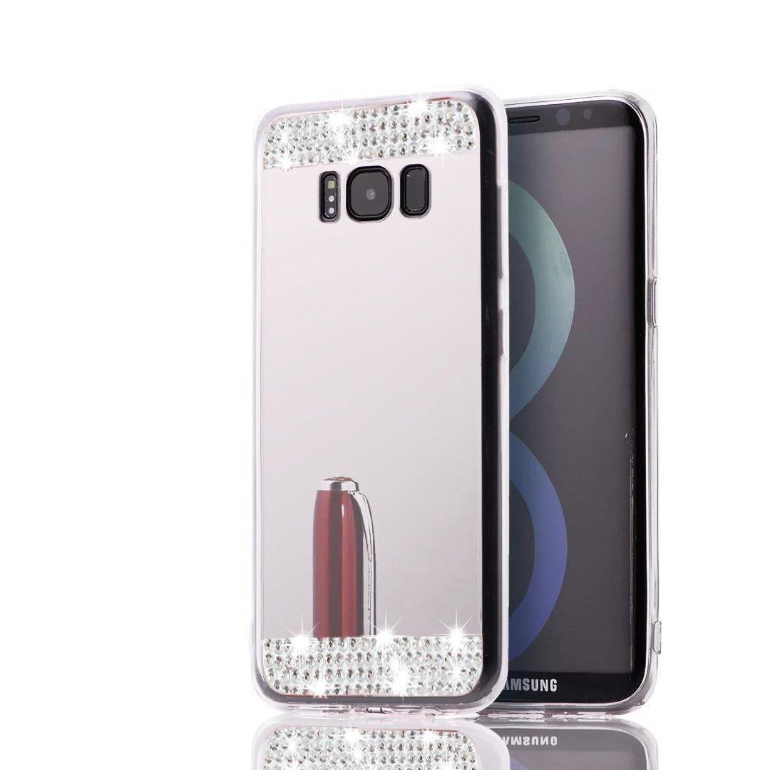 Galaxy S8ケース Inspirationc Samsung Galaxy S8 豪華なバンパー スーパースリムミラーケース Samsung Galaxy S8用 ミラーケースカバー Samsung Galaxy S8 Plus(2017) B071CSW5FG Samsung Galaxy S8 Plus(2017)|Bling Silver Bling Silver Samsung Galaxy S8 Plus(2017)