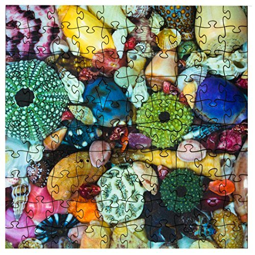 Mosaic Puzzles Wooden Jigsaw Puzzle – Ocean Treasure – 104 Unique Pieces Challenge Any Puzzle Lover from Ages 8 to 98 – Made in The USA by Zen Art & Design made in Massachusetts