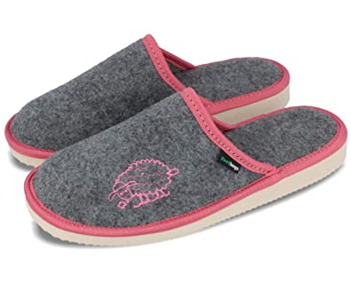 cb708b6bfacf9 FOOTHUGS Women's Felt Home Slippers with Memory Foam and Arch Support Insole