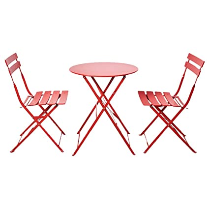 Folding Chair Home Ocio al Aire Libre de Tres Piezas Pequeña ...