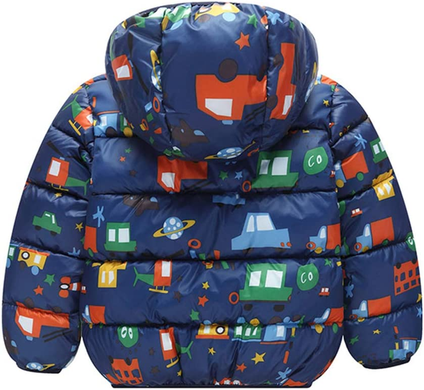 Kids Baby Hooded Down Jacket Boys Girls Winter Puffer Coat Snowsuit Windproof Padded Jacket Cotton Outerwear