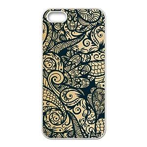 Gold Pattern ZLB566060 Unique Design Case for Iphone 5,5S, Iphone 5,5S Case