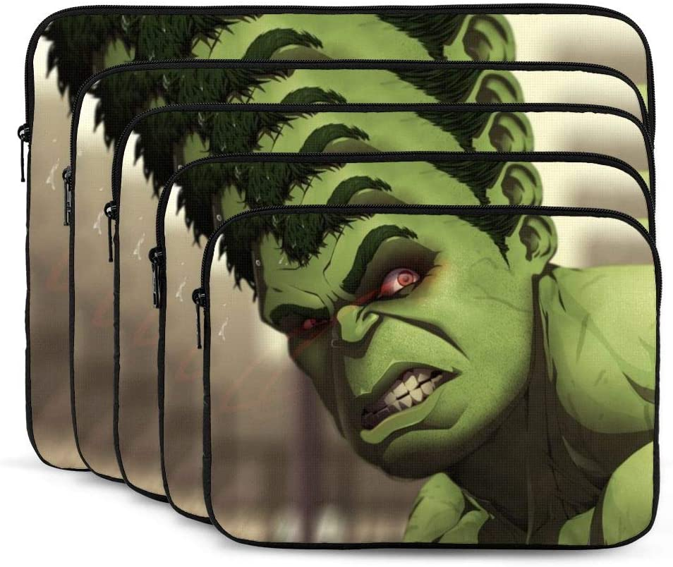 Hulk Sci Fi Laptop Sleeve Case Classic Notebook Computer Bag Slim Tablet Briefcase Business Travel Outdoor Black 12 inch
