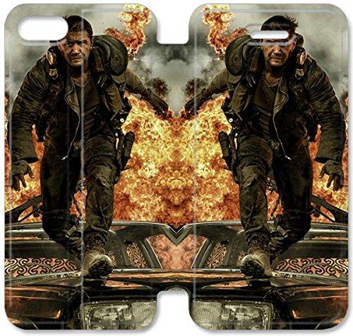 Flip étui en cuir PU Stand pour Coque iPhone 5 5S, bricolage 5 5S Cell Phone Coque Case personnalisé dur O6U9IR Mad Max Fury route