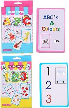 FLAMEER 2 Set de Tarjetas Flash de Números, Alfabéticos, Juegos de Parejas para Niños Pequeños: Amazon.es: Juguetes y juegos