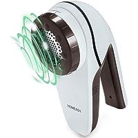 Rasoir électrique Homeasy pour peluches avec moteur puissant pour cachemire, flanelle et coton - Blanc