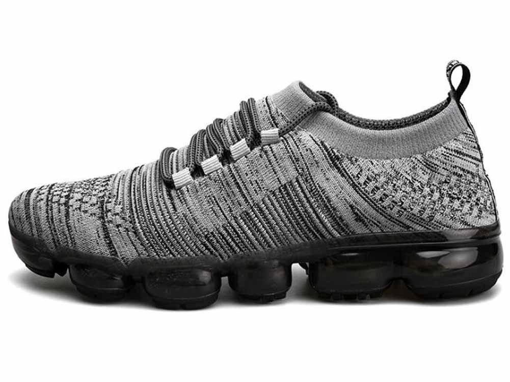 Hombres Respirable Zapatos Para Correr Otoño Invierno Colchón De Aire Tejeduría Zapatillas Aptitud Zapatos ( Color : Gray , Size : 41 ) 41|Gray