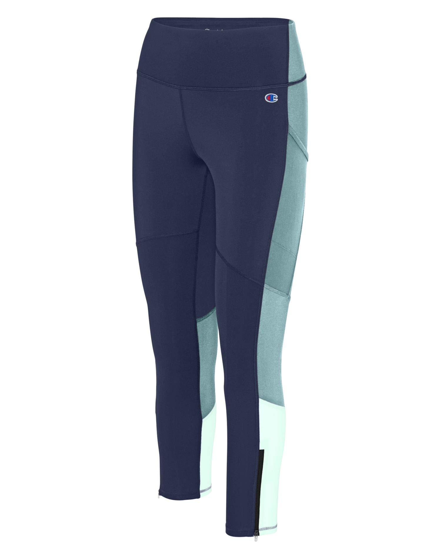 Champion Womens Fashion Colorblock Ankle Leggings Small Blue Multi by Champion