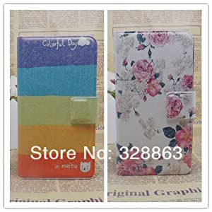 ModernGut New Ultra thin Flower Flag vintage PU Leather Flip Cover for Nokia Lumia 7 Slim Case,