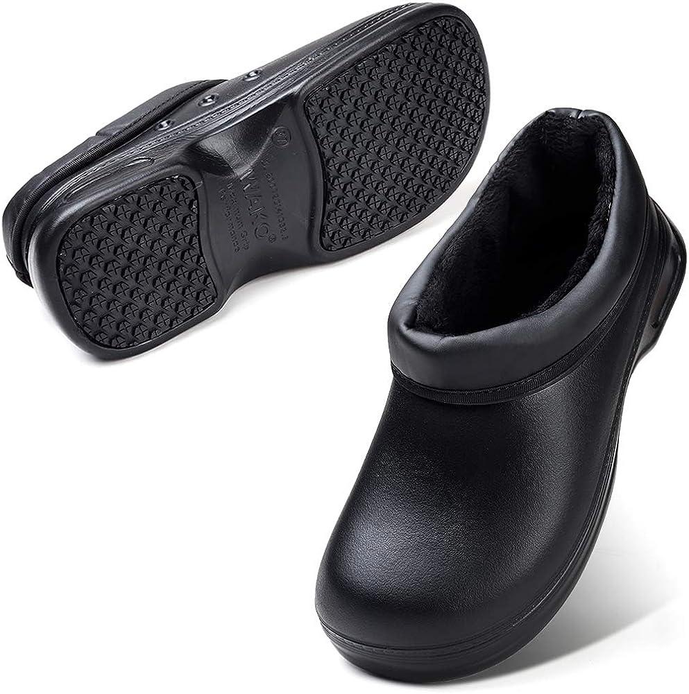 YKH Unisex Black Work Shoes Durable Non