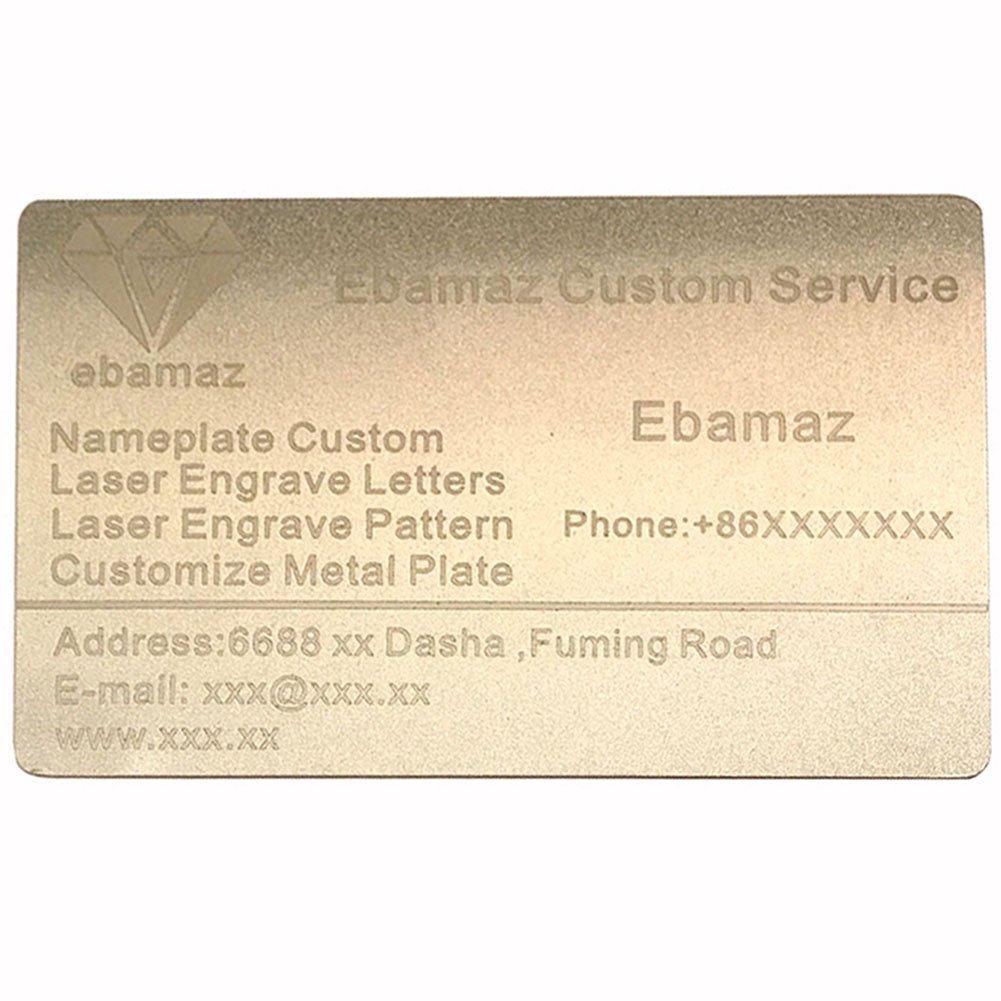 confezione da pezzi Aluminum 0.47mm thickness Pearl White,Blank ZF metallo biglietti di spessore