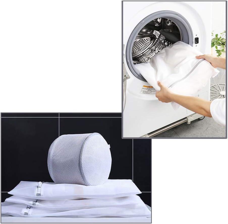 OrchidBest 4 Pack Malla Bolsas de lavander/ía Cremallera Bolsa de Lavado Viaje Bolsa de lavanderia para delicados//Lavadora//Secadora//Calcetines//Ropa Interior//Sujetador//Camiseta//Abrigo y m/ás