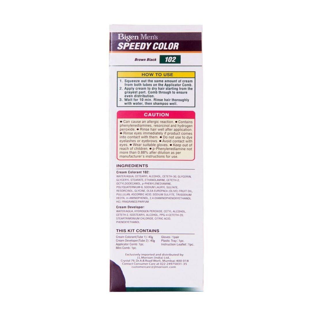 Buy Bigen Mens Speedy Color Natural Black 101 40g 40g Online
