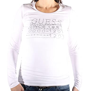7a6b62b4fc1c Image Unavailable. Image not available for. Colour: Guess Women's Long- Sleeved ...