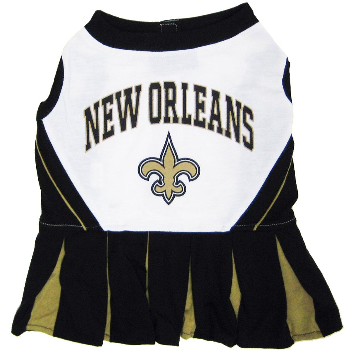 Pets First NFL New Orleans Saints Dog Cheerleader Dress, Medium