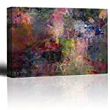 Wall26 - Vibrant and Colorful Splattered Watercolor Paint - Giclee Print Abstract Canvas Wall Art Rustic Home Decor - 32x48 inches