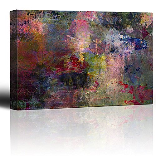 Vibrant and Colorful Splattered Watercolor Paint Abstract Rustic